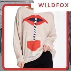 🐰 NWT WILDFOX Suck It Up Vineyard Sweater